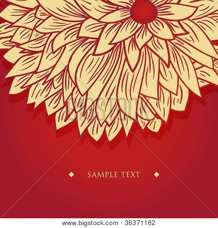 Chrysanthemum flower on white background. Vector background for your design