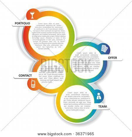 Vektor-farbigen Hintergrund-Konzeption für Broschüre oder website