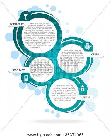 Vector background concept design for brochure or website