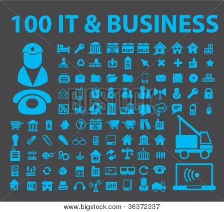 100 es Business Icons Set, Vektor