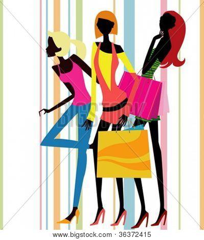 ziemlich shopping Mädchen