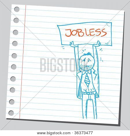 Jobless businessman