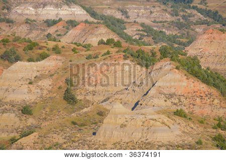 Painted Canyon badlands
