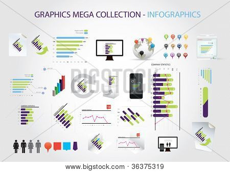 Graphics mega collection - infographics
