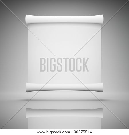 Blank roll of paper for advertising