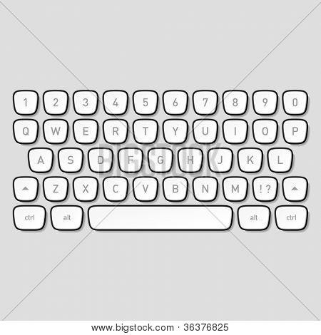 Tasten der Tastatur. Vektor.