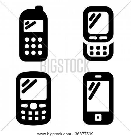 Iconos del teléfono móvil