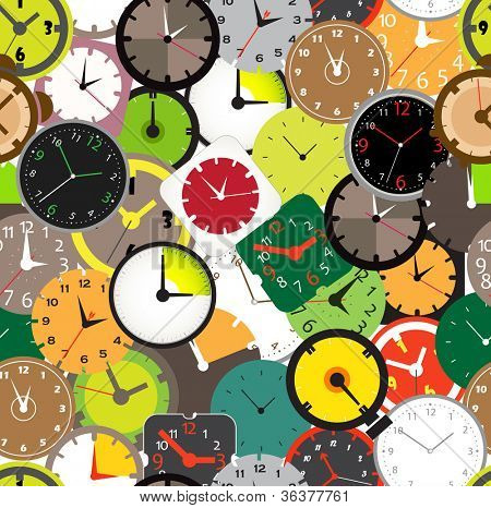 Seamless pattern of different clocks