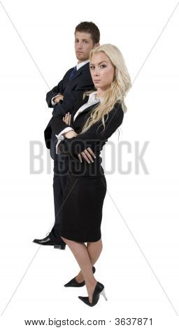 Standing Business Couple