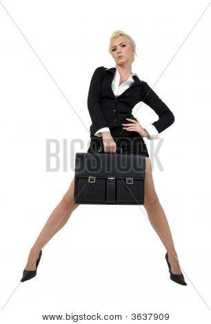Businesswoman Holding Office-Bag