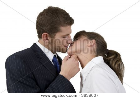 Kissing Pose Of Couple