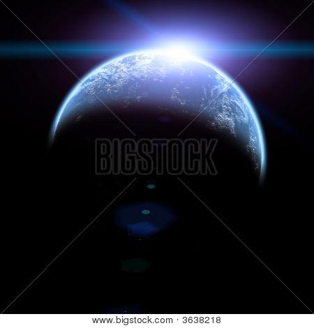 Sun Rise In Space