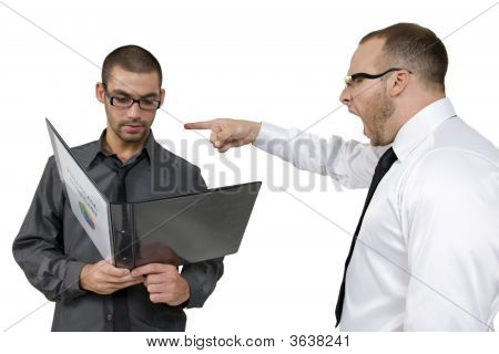 Employee Getting Scolded From His Senior