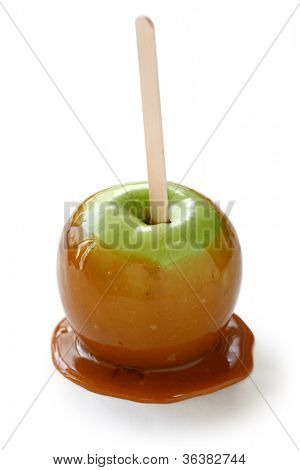 caramel apple, taffy apple, candy apple, toffee apple