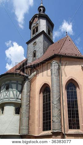 Church In Marbach At Summer Time