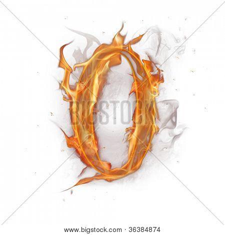 Fire alphabet number 0