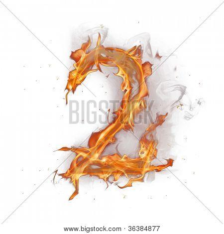 Fire alphabet number 2