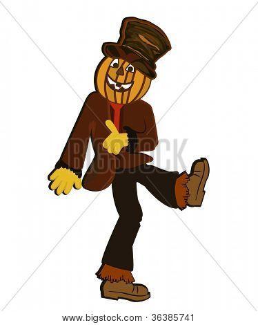 dancing pumpkin scarecrow