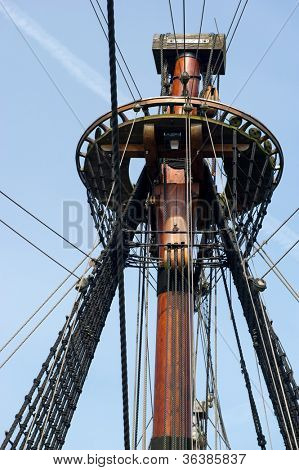 Crow nest from Dutch replica ship the Batavia