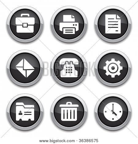 botones de oficina negro