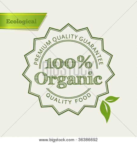 Eco Green icon. Retro vintage design. Vector illustration.