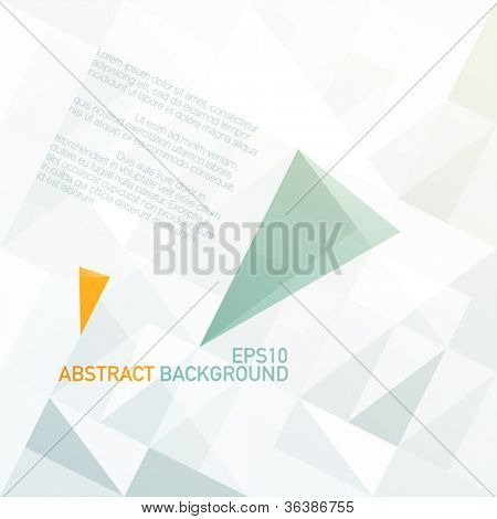 Blue and orange diamond shaped arrows on light gray patched surface. Vector, EPS10