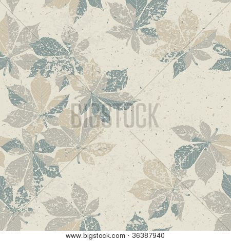 Autumn nature themed seamless pattern. Raster version, vector file available in portfolio.
