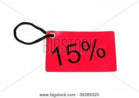 Fifteen Percent Paper Tag