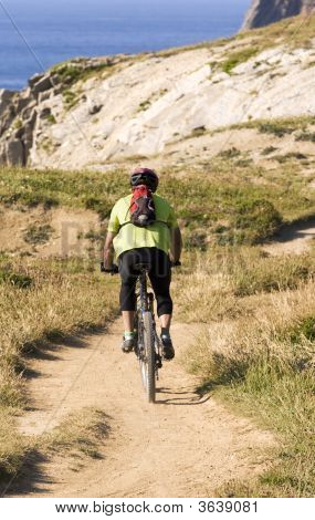 Mountain Bike At Basque Country Coast
