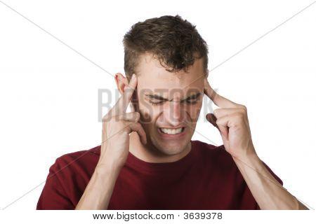 Man With Bad Headache