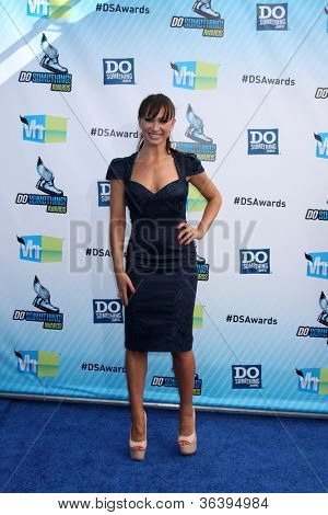 Los Angeles - AUG 19:  Karina Smirnoff arrives at the 2012 Do Something Awards at Barker Hanger on August 19, 2012 in Santa Monica, CA