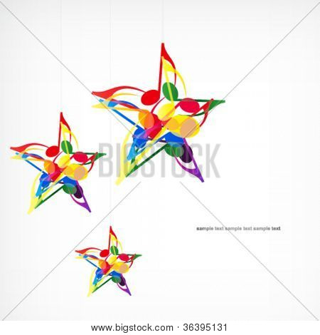 Vector music star background.