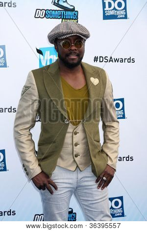 Los Angeles - AUG 19:  will.i.am arrives at the 2012 Do Something Awards at Barker Hanger on August 19, 2012 in Santa Monica, CA