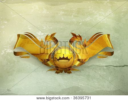 Design Element, Gold Emblem old-style vector