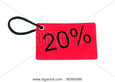 Twenty Percent Paper Tag