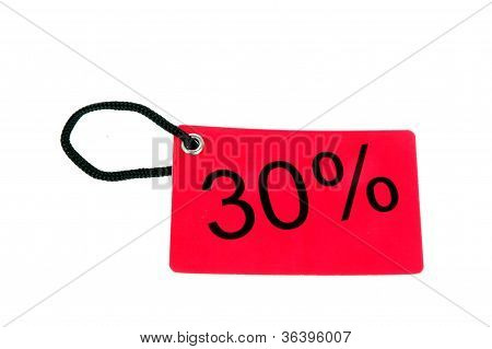 Thirty Percent Paper Tag