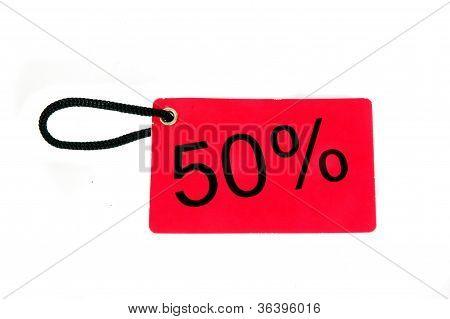 Fifty Percent Paper Tag