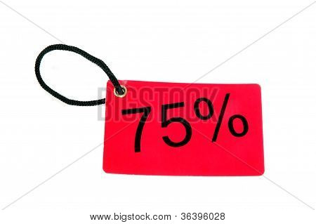 Seventy-five Percent Paper Tag