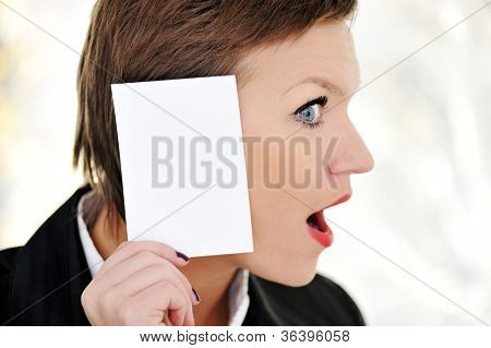 Woman with big ear concept