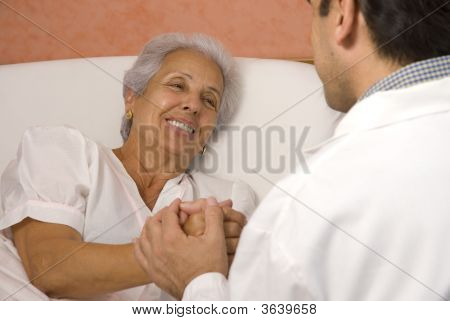 Senior Patient With A Doctor