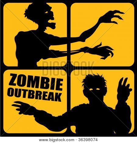Zombie Outbreak silhouettes