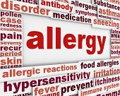 image of asthma  - Allergy message background - JPG