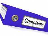 stock photo of moaning  - Complaints File Showing Complaint Reports And Records - JPG
