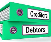 foto of borrower  - Creditors Debtors Files Showing Lending And Borrowing - JPG