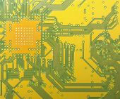 image of potentiometer  - Detail of an electronic printed circuit board - JPG