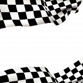 image of flag pole  - Vector background checkered flag Formula one with space for your text - JPG