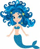 stock photo of fairy tail  - The image of a fairy tale mermaid on a white background - JPG