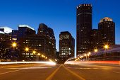 foto of prudential center  - Boston streets by night Massachusetts  - JPG