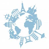 World Travel Landmarks And Monuments poster