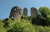 Ruins Of Medieval Castle In Hust poster